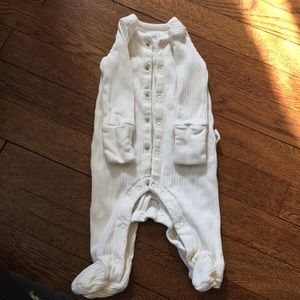Baby Gap ribbed sleeper in 100% organic cotton.